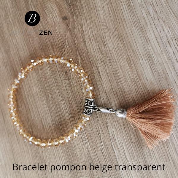 Bracelet-pompon-beige-transparent