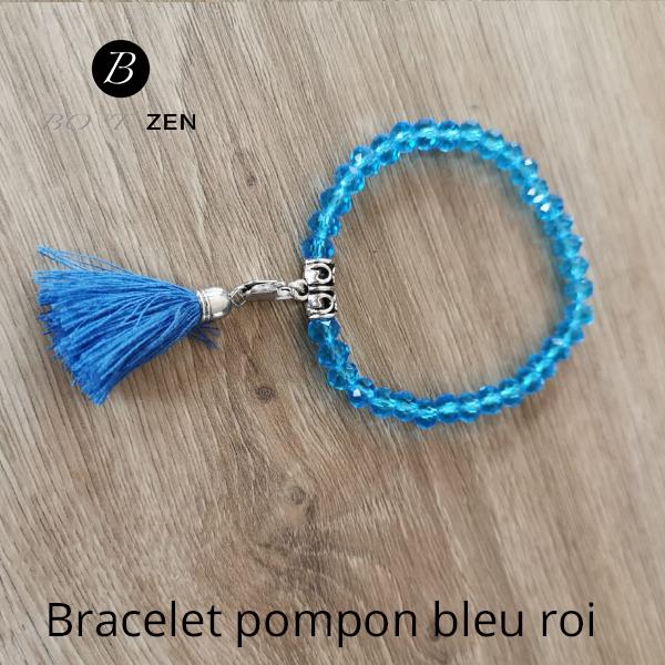Bracelet-pompon-bleu-roi