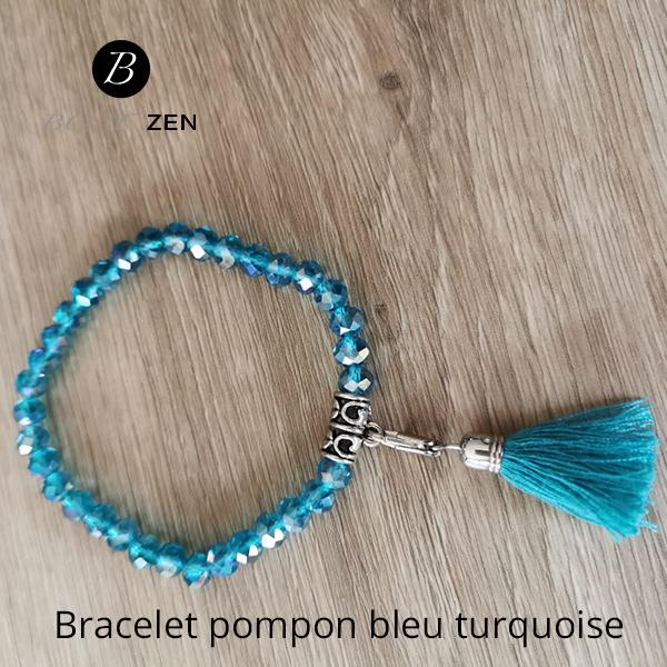 Bracelet-pompon-bleu-turquoise