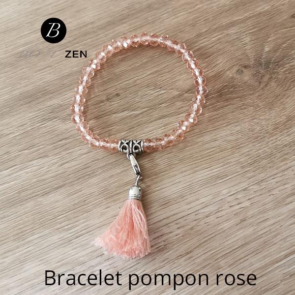 Bracelet-pompon-rose