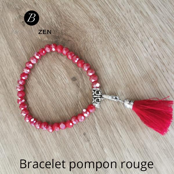 Bracelet-pompon-rouge