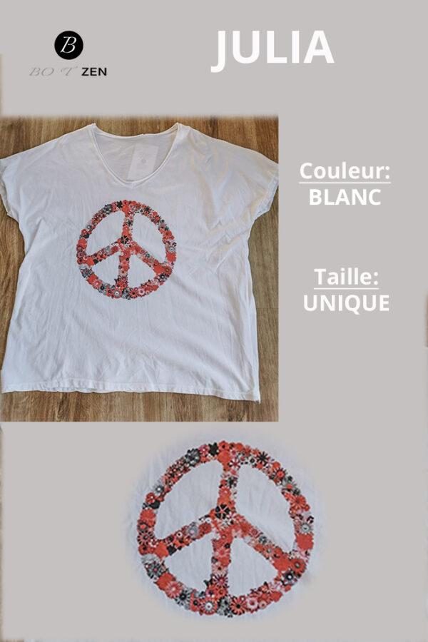 T-Shirt-blanc-Manches courtes-julia-collection botzen le havre