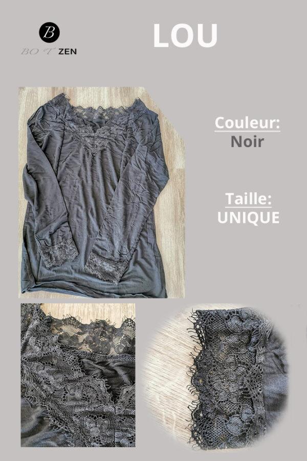 t-shirt lou noir botzen Le havre