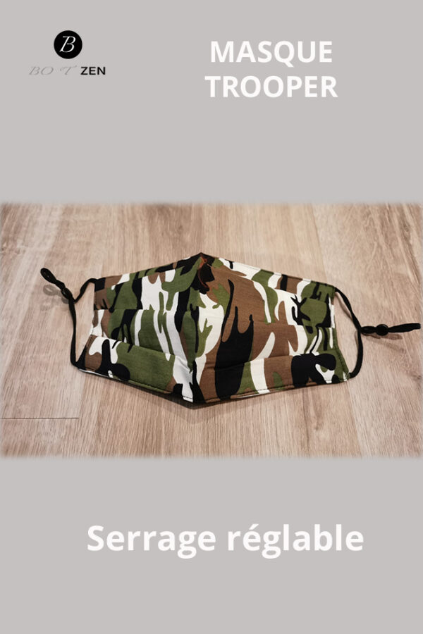 Masque lavable camouflage