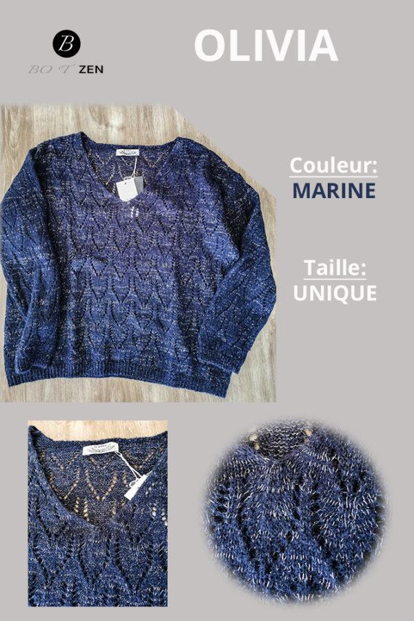 Pull OLIVIA Crochet collection botzen le havre