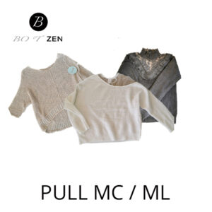 Pull manches courtes - longues