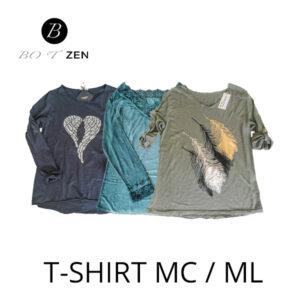 T-Shirt manches courtes - longues