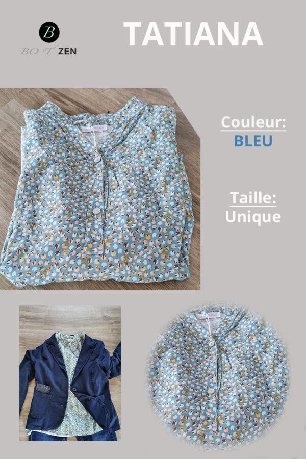 Tunique TATIANA bleu Botzen Le Havre