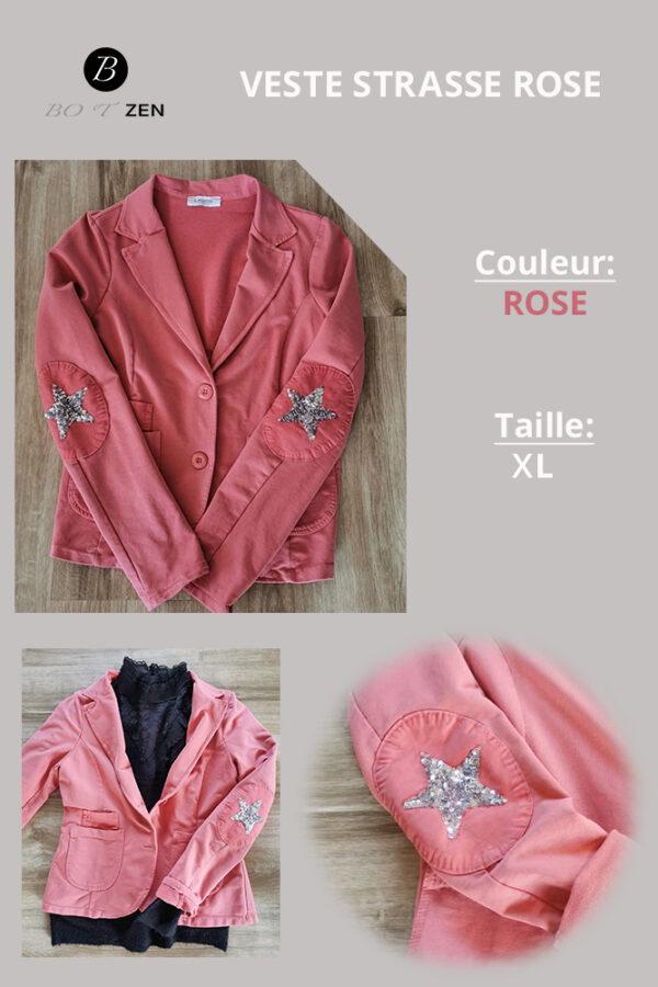 Veste Alessandra rose XL