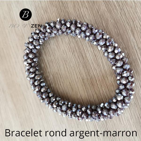 bracelet-rond-argent-marron