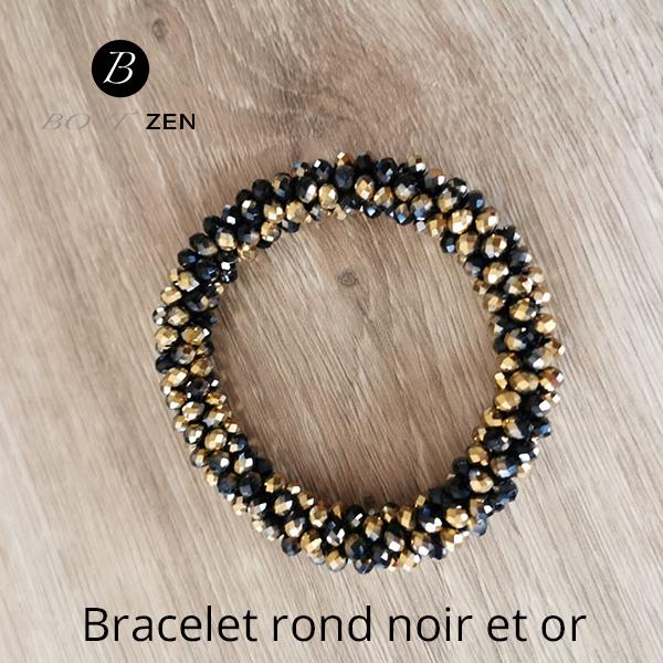 bracelet-rond-noir-or